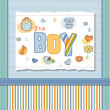 Baby boy shower card - Stock Photo