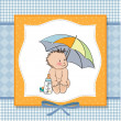 New baby boy shower card — Stock Photo #9886379