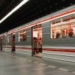 Stock Photo: Subway background from Prague