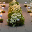 Wedding golf table — Stockfoto