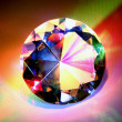 Foto Stock: Diamond with rainbow colors