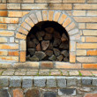 Old fireplace background - Stock Photo
