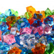 Plastic diamonds background — Stock Photo