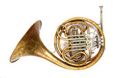 Old french horn — Stock Photo