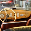 Very old car interior — Stock Photo