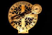 Veyr old golden sundial beneath — Stock Photo