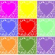 Valentin hearts - Stock Vector