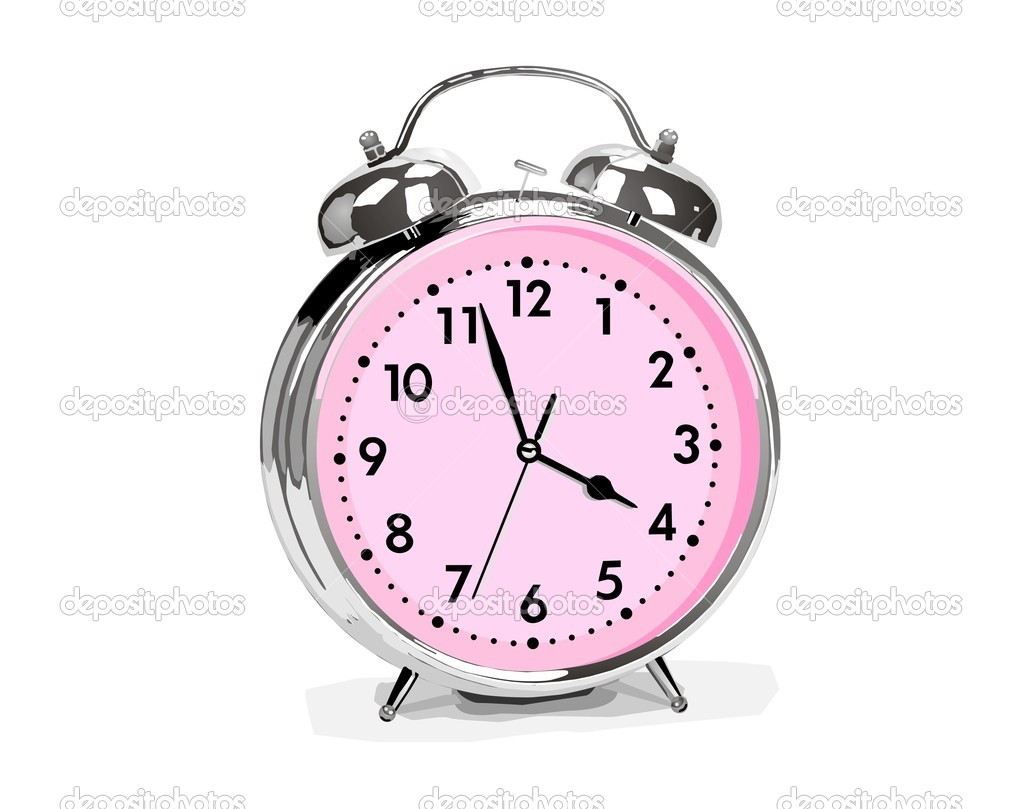 Alarm clock on white background — Stock Vector #10317946