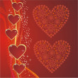 Red hearts - Stock Vector