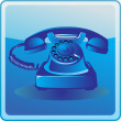 Old telephone — Stock Vector