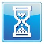 Vector sandglass illustration icon — Stock Vector