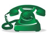 Oude telefoon — Stockvector