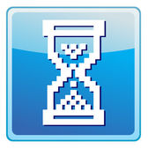 Vector sandglass illustration icon — ストックベクタ