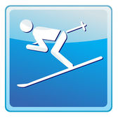Ski-pictogram — Stockvector