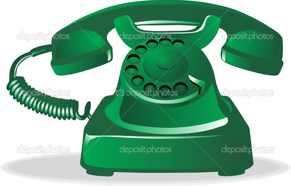 Old telephone on white background  Stock Vector #10411328