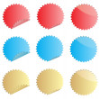 Color labels — Stock Vector