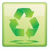 Recycle symbol icon — Stock Vector