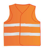 Safety vest for construction workers — Stock Vector