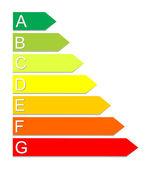 Symbol klasyfikacji energetycznej. wektor. — Wektor stockowy