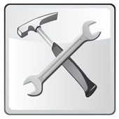 Wrench and Hammer Icon — Stock Vector