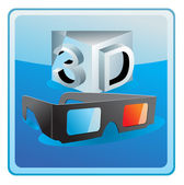 3d cinema glasses — Stock Vector
