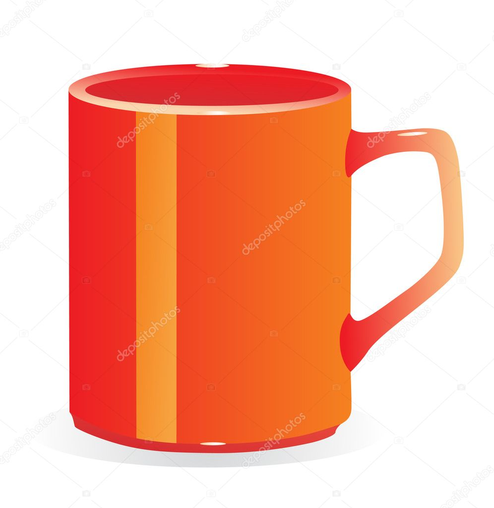 Red tea cup over white background  — Stock Vector #10449616