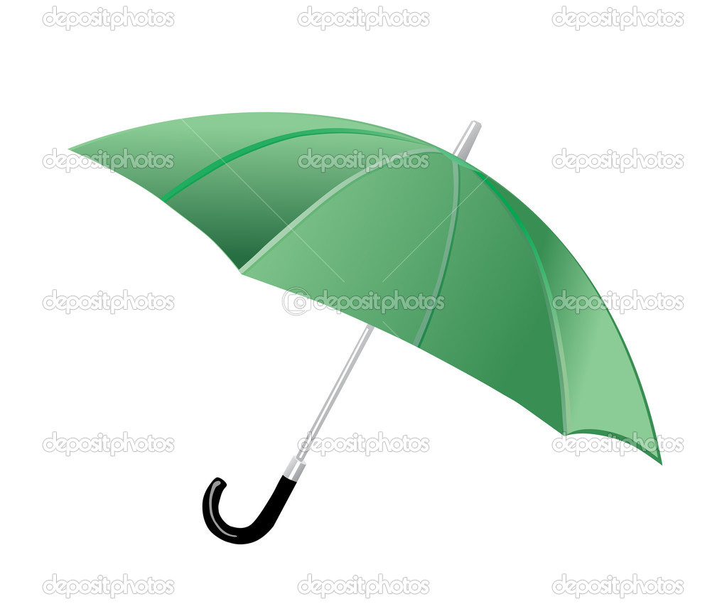 Umbrella on white background — Stock Vector #10449794