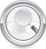 Magnifier icon — Stock Vector