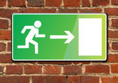 Exit on wall — Stock Photo