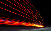 Abstract orange lights in road tunnel — Stock Photo