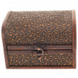 Wooden chest with ornaments — Stock Photo #8671834