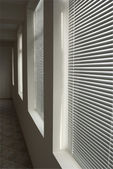 Windows with blinds — Stock Photo