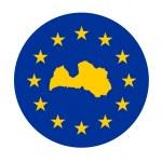 Latvia European flag — Stock Photo