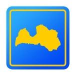 Latvia European button — Stock Photo