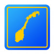 Norway European button — Foto Stock