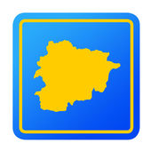 Andorra European button — Stock Photo