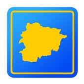 Andorra European button — Stock Photo