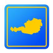 Austria European button — Stock Photo