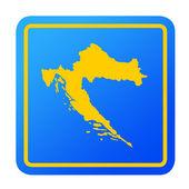 Croatia European button — Stock Photo