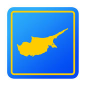 Cyprus European button — Stock Photo