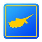 Cyprus European button — Stock Photo