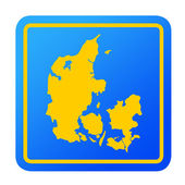 Denmark European button — Stock Photo