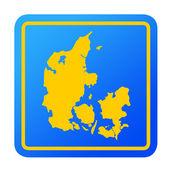 Denmark European button — Stock Photo