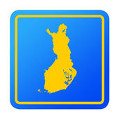 Finland European button — Stock Photo