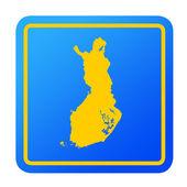 Finland European button — Stock Photo