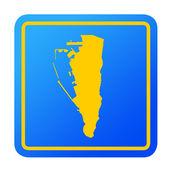 Gibraltar European button — Stock Photo
