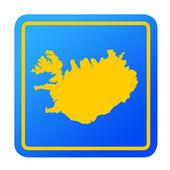 Iceland European button — Stock Photo