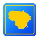 Lithuania European button — Stock Photo