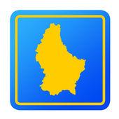 Luxembourg European button — Stock Photo