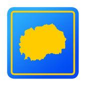 Macedonia European button — Stock Photo